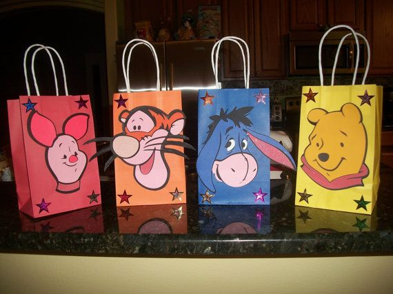 One of a kind Winnie the Pooh Bear and Friends by Onecraftyhippo, $2.00