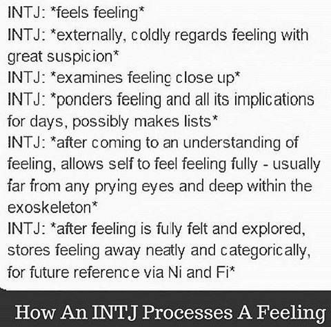 INTJ processing a feeling So disgustingly correct as well