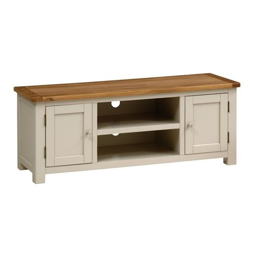 """Lundy Stone Grey Large TV Unit - Up to 57"""" (J491) with Free Delivery   The Cotswold Company"""