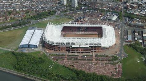 Stadium of Light, home of Sunderland Association Football Club.