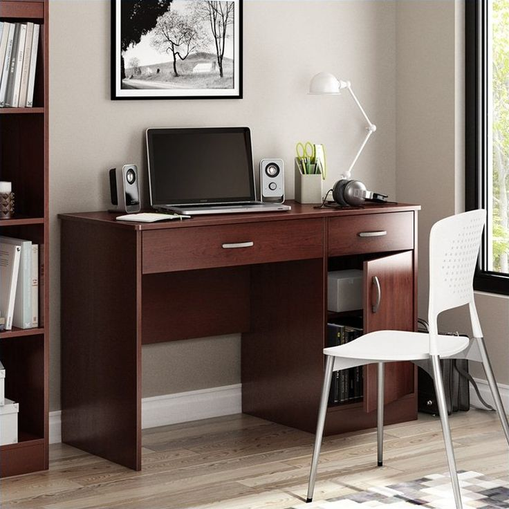 Axess Small Computer Desk in Royal Cherry