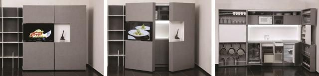 9 Transforming Furniture Solutions For Small Space Living: Dizzconcept PIA Pop-Up Kitchen