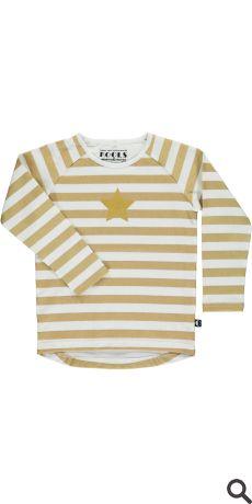 T-shirt l/æ - Gold04