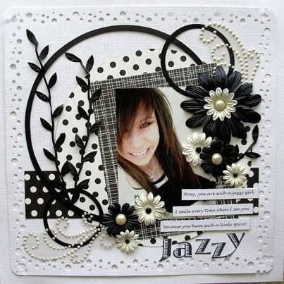 Jazzy scrapbooking ideas - I like black and white!