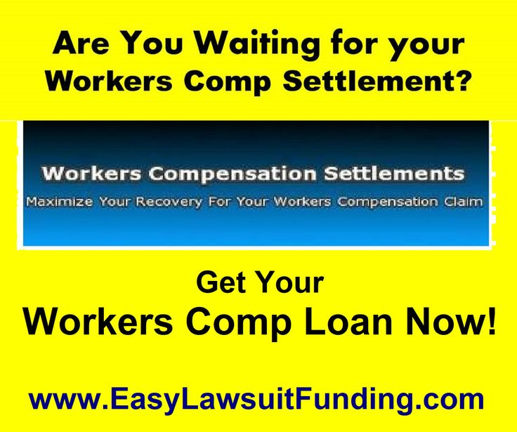 """http://www.easylawsuitfunding.com Workers Compensation Cash Advance – Workers Comp Loan -""""Easy Lawsuit Funding"""" offers lawsuit funding to injured workers who have pending workers comp claim. If you're waiting for your settlement, but need cash NOW, lawsuit funding of as much as $500 to $50,000 – in as little as 24 hours – can help keep you on your feet. Lawsuit loan is Risk Free - you pay back only if you win your case. Visit: http://www.easylawsuitfunding.com/Workers_Comp_Funding.html"""