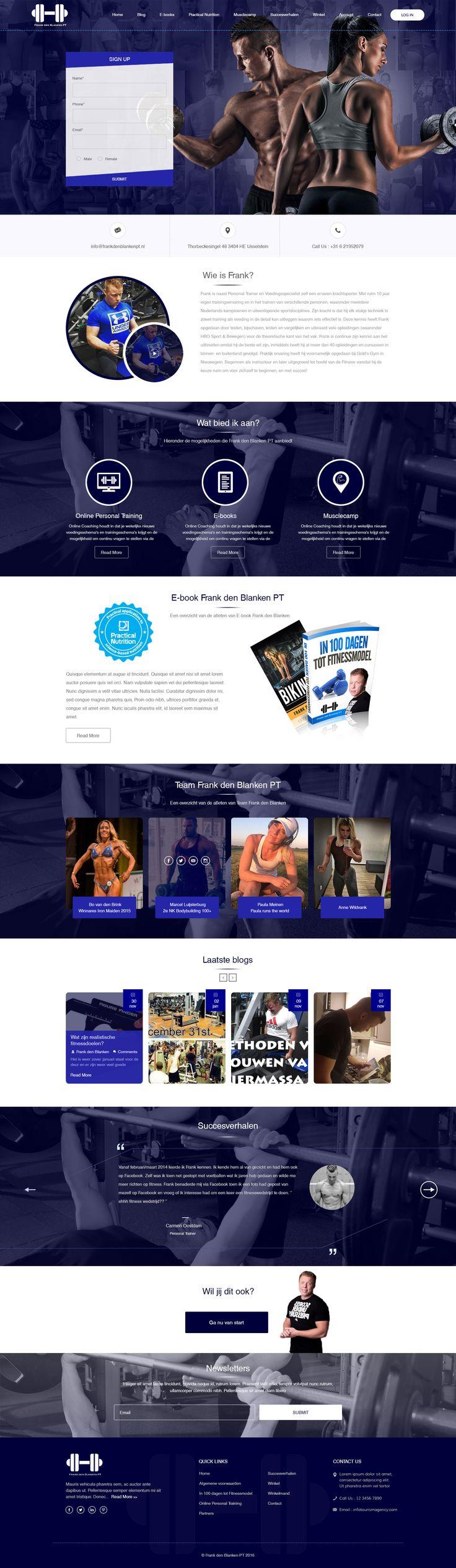 A body builder's website design created by Digilife Solution (http://www.digilifesolution.com)