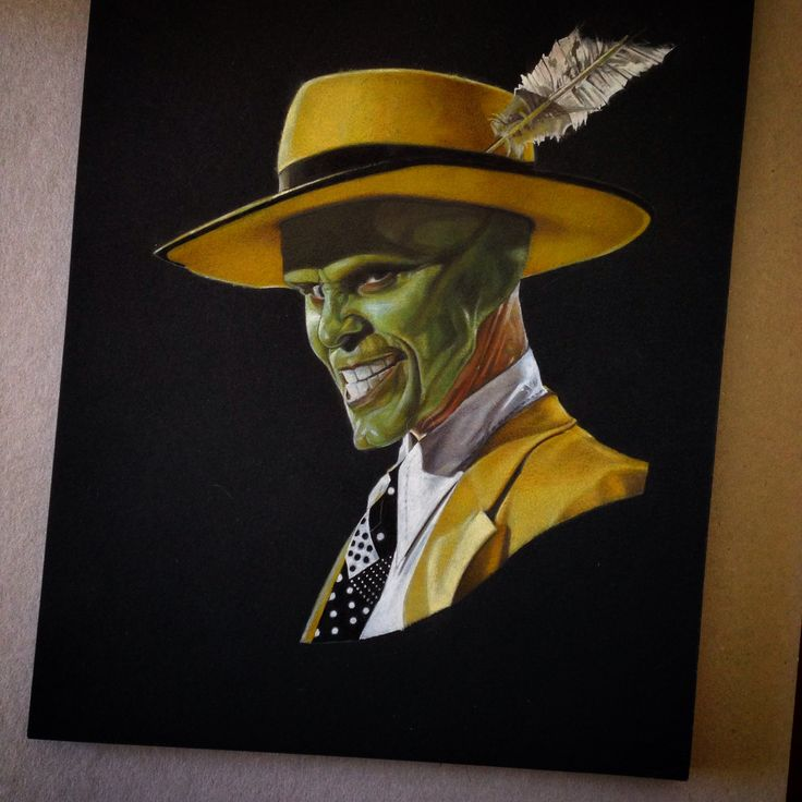 Jim Carrey as The Mask - Made with Colorpencils.
