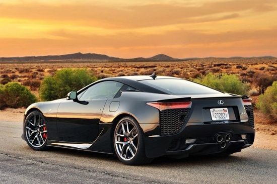 Black Lexus LFA