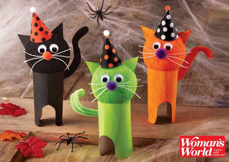 Purr-fect kids' craft: Make dress-up kitties for #Halloween!