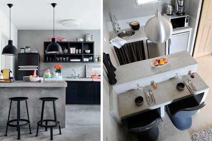 Cocinas pequeñas con barra americana  |  DECOFILIA.com