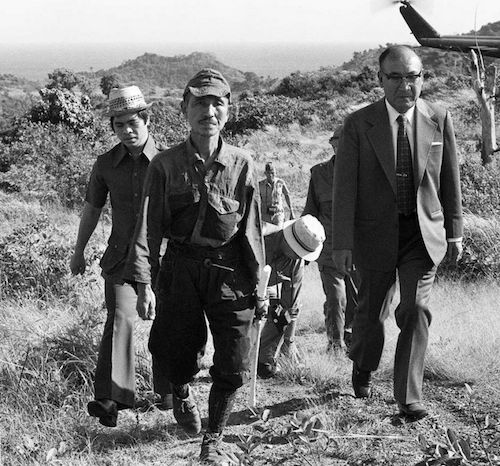 wwii Hiroo Onoda, an Imperial Japanese Army intelligence officer who fought in World War II, held his position in the Philippines and refused to surrender until 1974. His former commander traveled from Japan to personally issue orders relieving him from duty