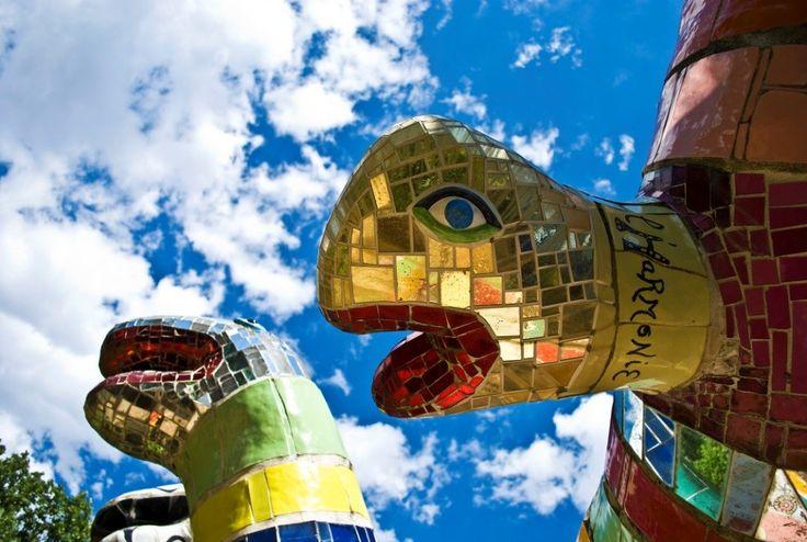 The Garden of Tarocchi, Niki de Saint Phalle, Tuscany, Italy http://blog.topitalytravel.com #beuatifulgardens #wonderfulplaces #specialplaces #bestofItaly