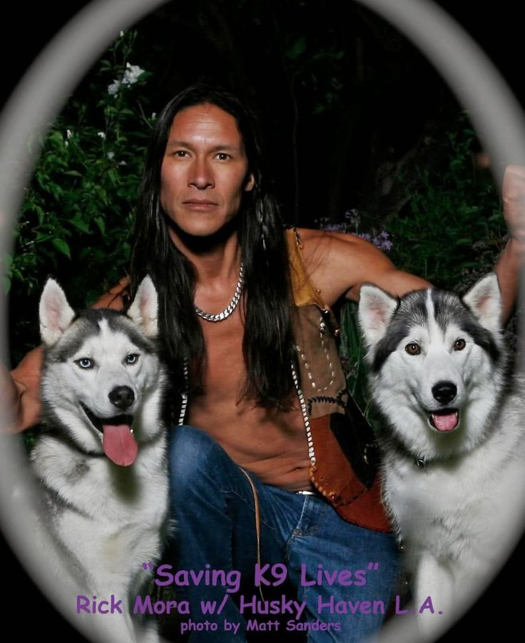 Native American Actor Rick Mora Helps Abandoned Huskies To Find New Homes