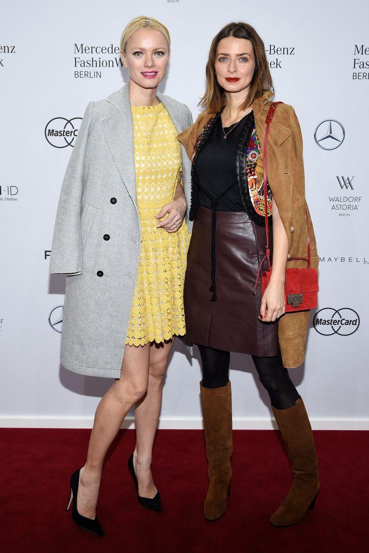 Franziska Knuppe und Eva Padberg bei der Modenschau von Dimitri