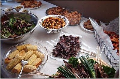 Potluck wedding? :-)  - This site has great ideas & things to think about!