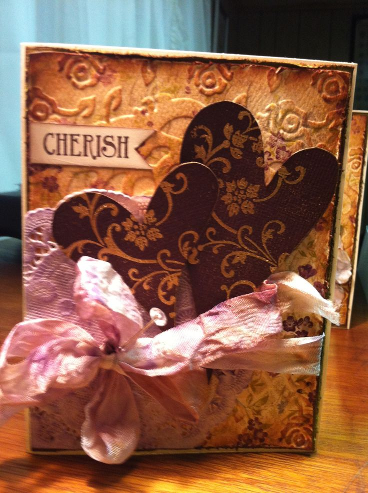 Cherish- could be a wedding or a Valentine's card.