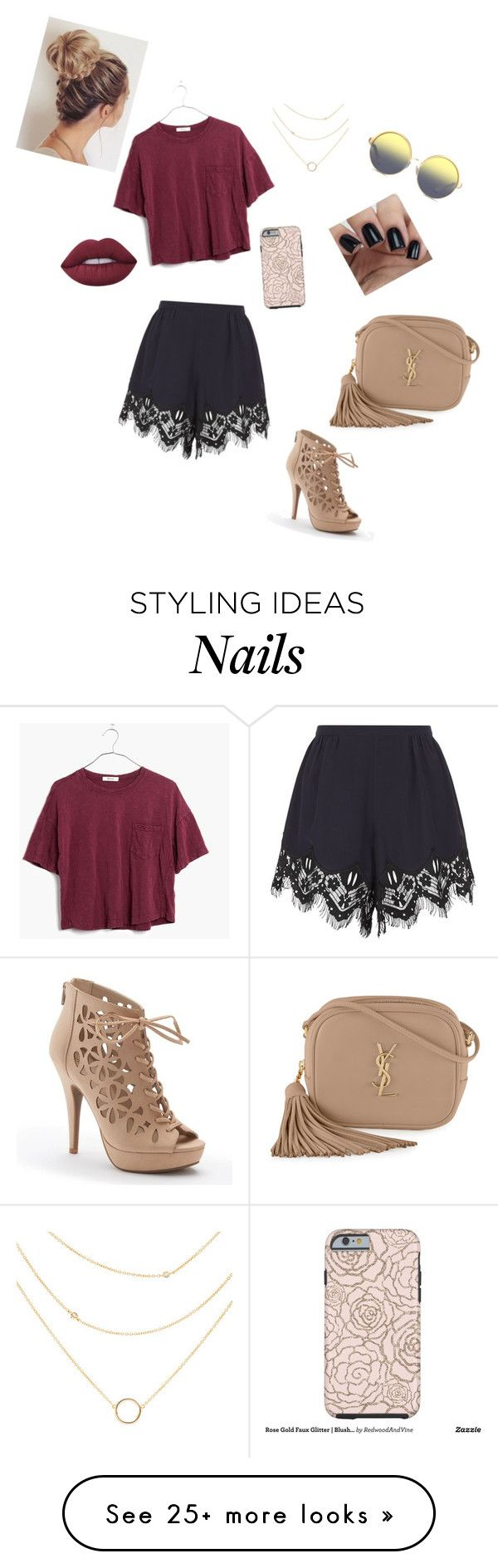 """""""Birthday outfit"""" by ashleythefangirl on Polyvore featuring Chloé, Madewell, Apt. 9, Matthew Williamson, Yves Saint Laurent and Lime Crime"""