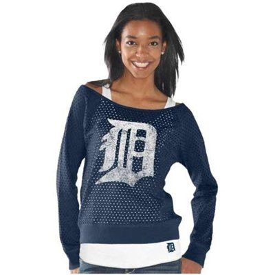 Touch by Alyssa Milano Detroit Tigers Ladies Holy Sweatshirt & Tank Set – Navy Blue