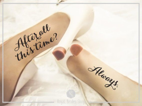 Wedding Shoes Decals – After All This Time Always – Wedding Shoes Sticker Wedding Decal Wedding Sticker Bride Shoes Decal
