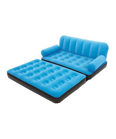 Look at this #zulilyfind! Blue Inflatable Couch with Air Pump #zulilyfinds