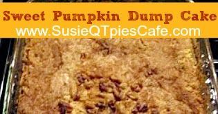 This super sweet cake is called by many names.  I've heard it referred to as Pumpkin Crisp, Pumpkin Dump Cake, Pumpkin Cake and Pumpkin Co...