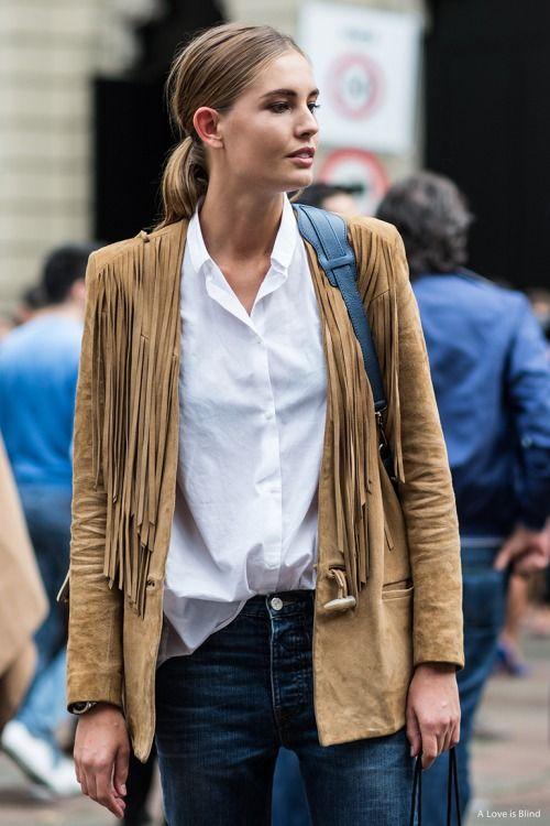 How to wear a fringe suede jacket : MartaBarcelonaStyle's Blog