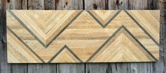 Reclaimed Wood Chevron Wall Hanging. by StoneHillMillworkCo