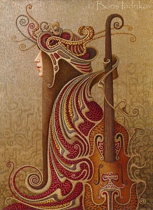 Boris Indrikov: Music, Artists, Art Nouveau, Inspiration, Boris Indrikov, Illustration, Artnouveau, Painting, Art Deco