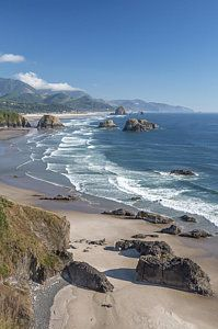Past Canon Beach Print by Jon Glaser