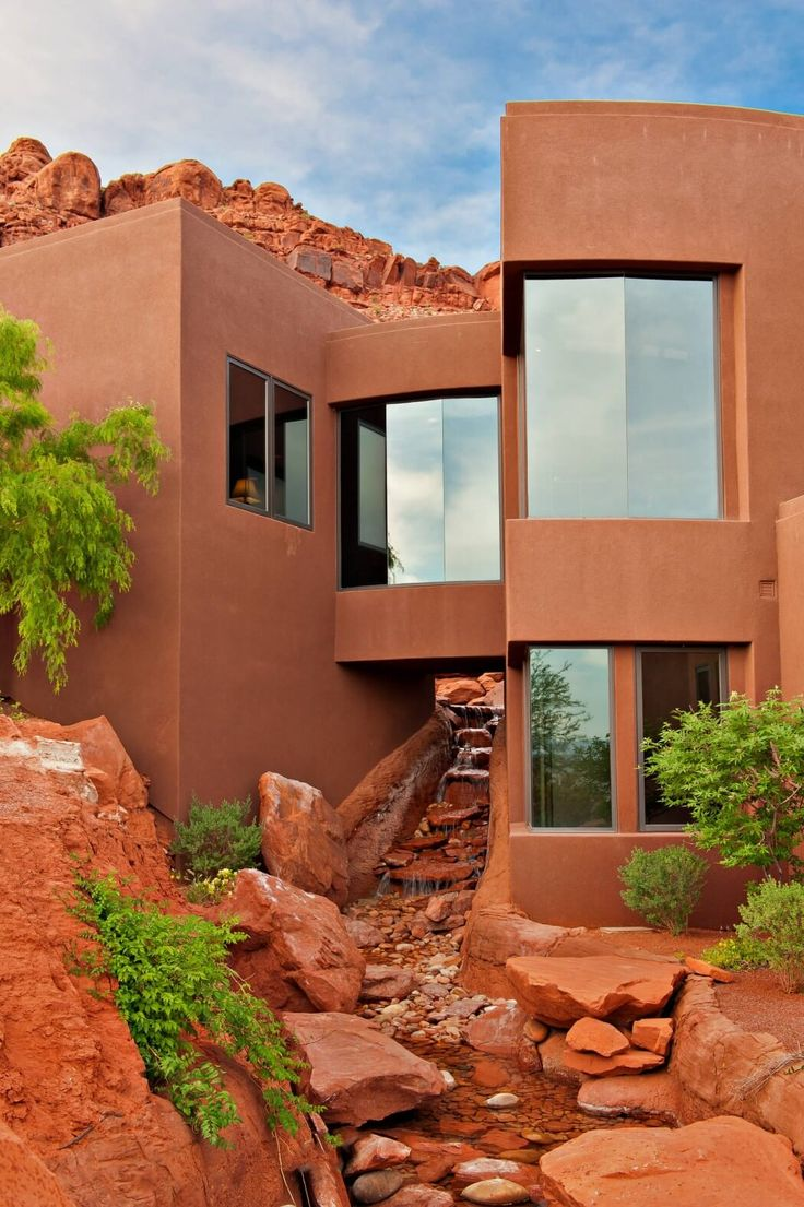 16 Enchanting Modern Entrance Designs That Boost The Appeal Of The Home: Architecture, Exterior Design, Southwest Style
