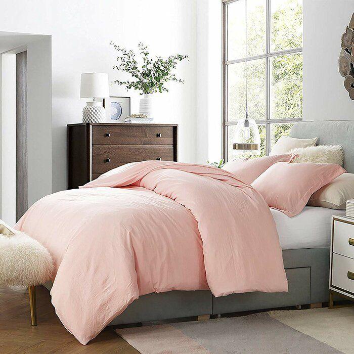Wendling 3 Piece Duvet Cover Set In 2021 Duvet Cover Sets Pink Comforter Twin Xl Duvet Covers