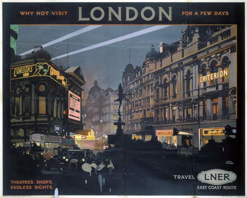 London - Piccadilly Circus by National Railway Museum - art print from Easyart.com