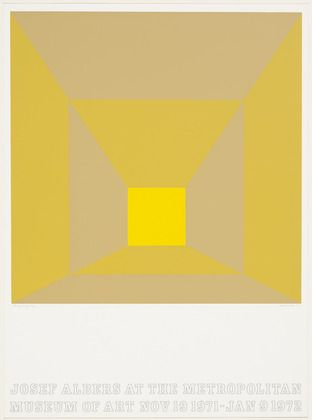 P. Yellow Josef Albers (American, born Germany. 1888–1976)  1971. Screenprint, composition 20 x 20 (50.8 x 50.8 cm) sheet 28 7/16 x 20 15/16 (72.2 x 53.2 cm). Gift of Dr. Joseph I. Singer. © 2013 The Josef and Anni Albers Foundation / Artists Rights Society (ARS), New York