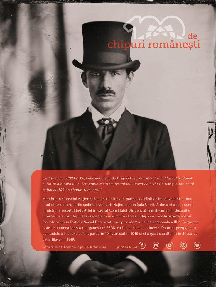 """Povestea lui Iosif Jumanca, una dintre personalitățile care a ținut discursurile din Sala Unirii în 1918, s-a terminat tragic...  De când am început dialogurile cu cei pe care îi întâlnim în proiectul național """"100 de chipuri românești"""" am avut ocazia să aflăm multe detalii pe care nu le știam din manualele de istorie. Sperăm să le descoperi și tu cu interes pe parcursul acestui an! #100deromani #100dechipuri #mareaunire #centenar #collodionportrait #ambrotype - cu Dragos Ursu."""