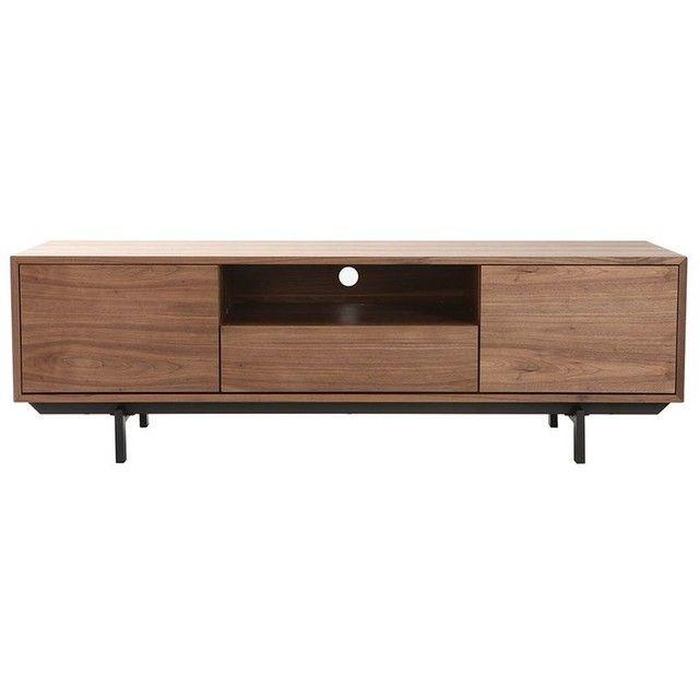 Meuble Tv Design Vintage 160cm Noyer Manny Noyer Noir Miliboo La Redoute Tv Unit Decor Tv Unit Furniture Tv Furniture