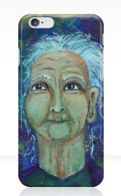 Auntie Ebb iPhone cases ~ http://www.redbubble.com/people/elizafayle/works/13682796-auntie-ebb?p=iphone-case  #woman #old #elderly #wise #crone
