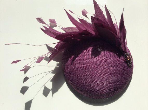 Purple Fascinator Plum Cocktail Hat