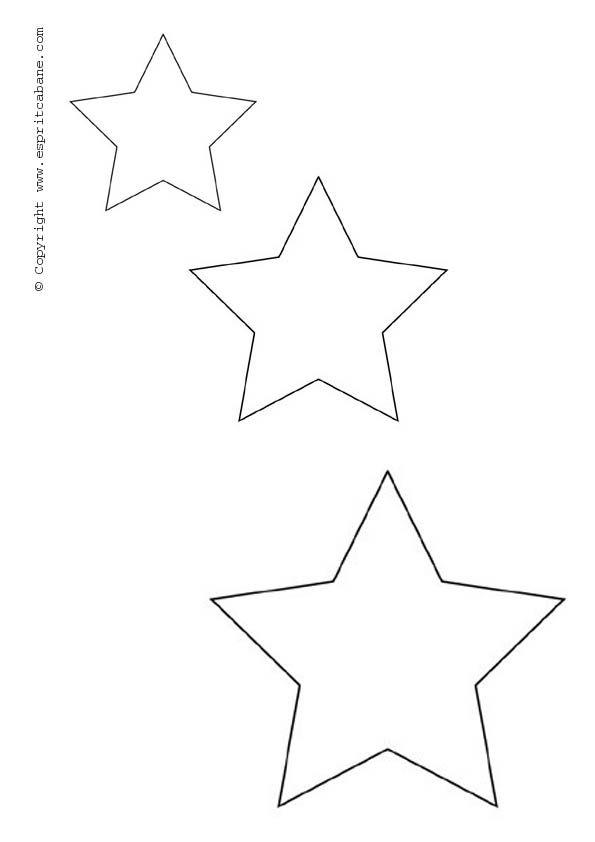 star motif stencil christmas