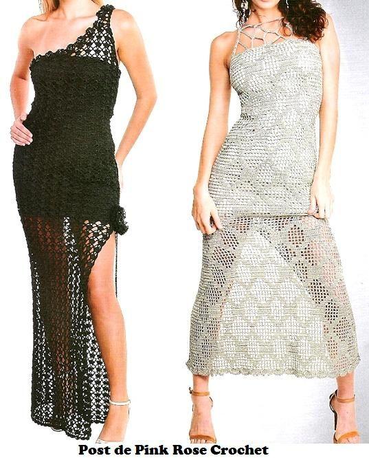 Mejores 57 imágenes de crocheted dress en Pinterest | Vestidos de ...