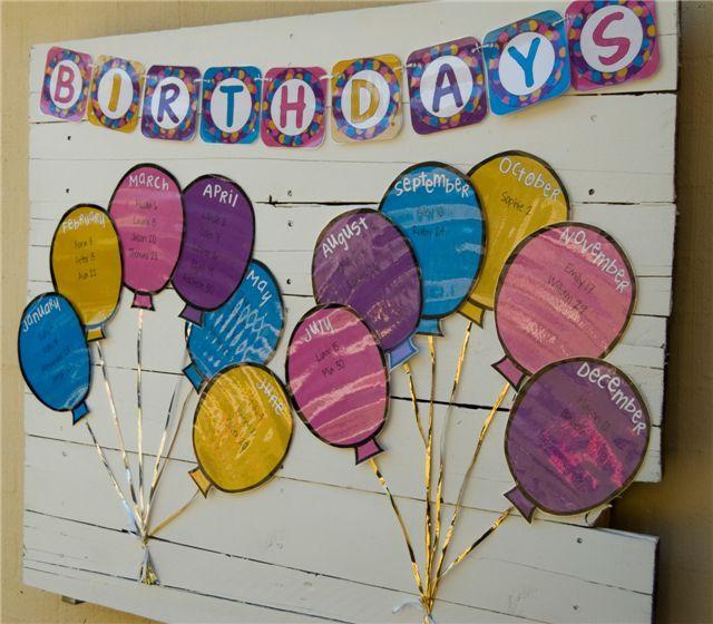 Preschool Birthday Calendar Ideas