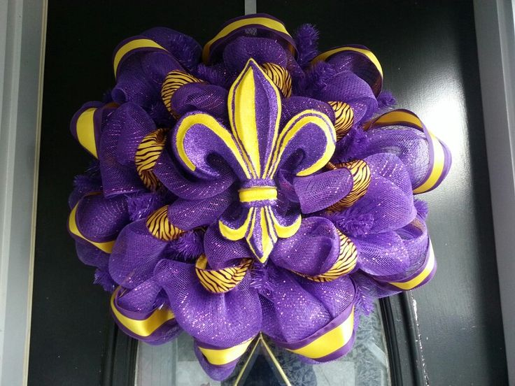 Lsu Deco Mesh Wreath Craft Show Ideas Pinterest