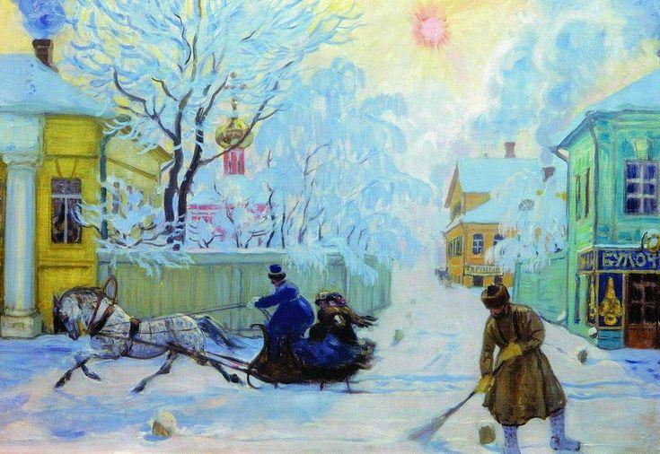 Frosty Morning - Boris Kustodiev - WikiArt.org