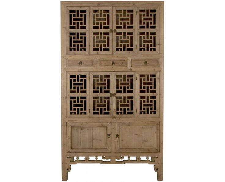 Chinese Antique Tall Cabinet (Washed) - Chinese Antiques   Weylandts