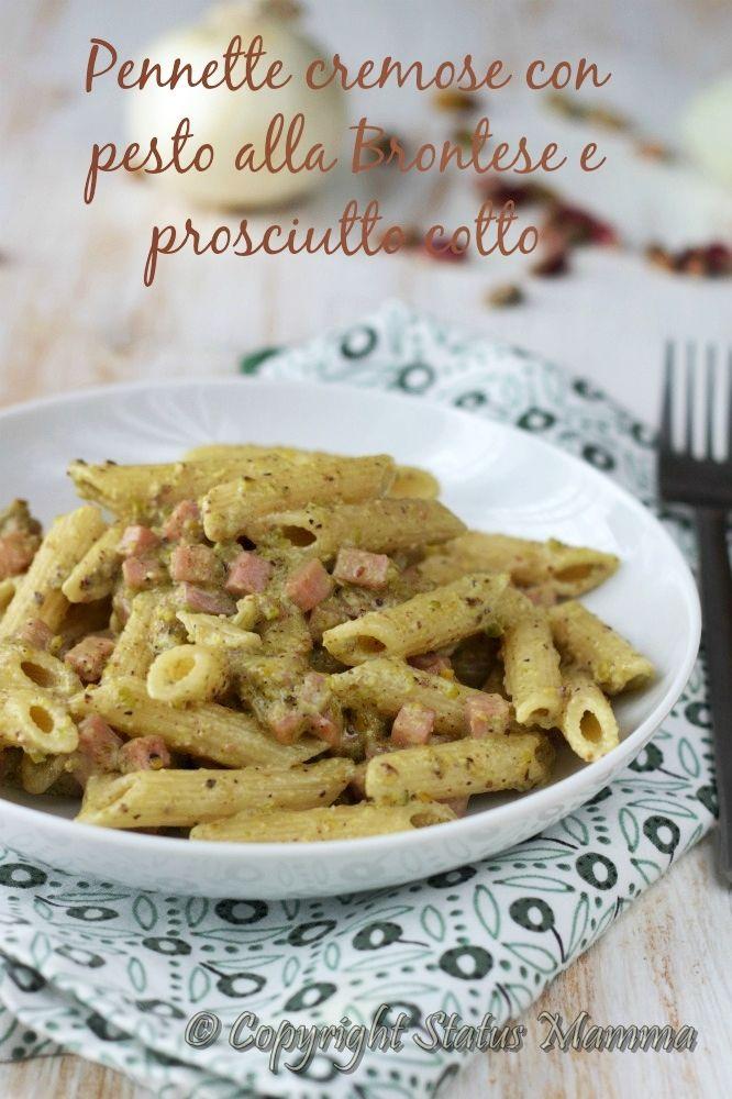 pennette cremose ricetta con panna pesto al pistacchio di bronte bacco ricetta primo facile veloce con prosciutto cotto Statusmamma giallozafferano foto food photograpy