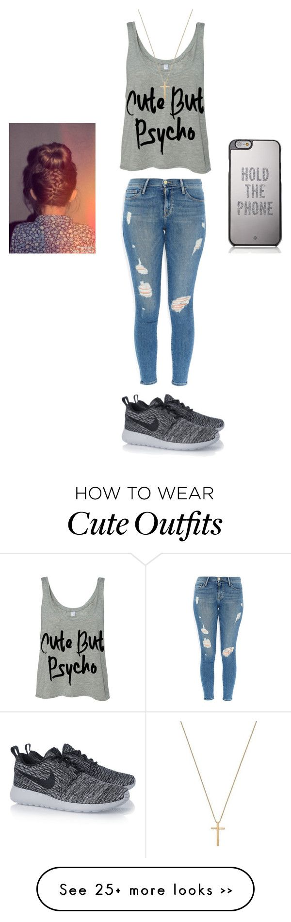 """mall?"" by paytonnnhiiii on Polyvore featuring Frame Denim, NIKE, Kate Spade and Gucci"
