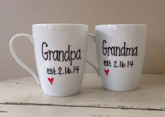 Pregnancy announcement mug, new grandma and grandpa, grandparent mug, Mother's Day mug, gift for Mother's Day