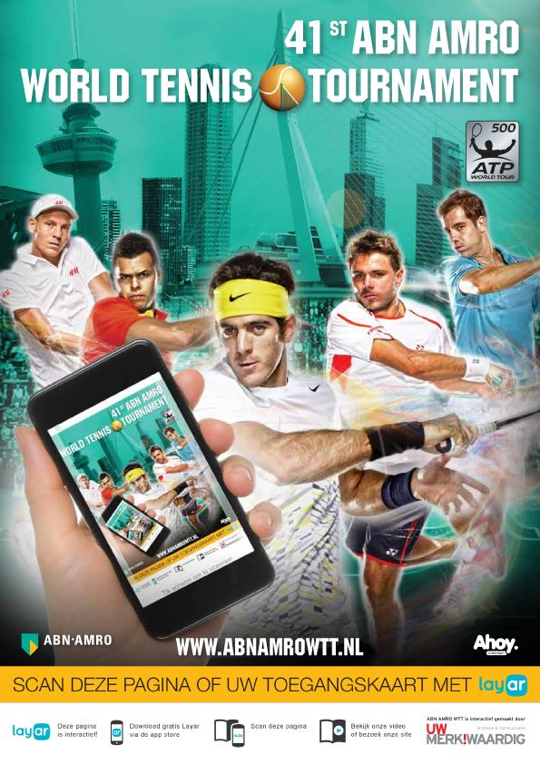 Certified @Layar partner #UWMERKWAARDIG adds interactivity to 110.000 tickets for the World Tennis Tournament! #abnamrowtt