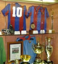 FCB Shirts and Trophies in the Museum