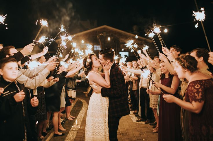 Sparklers + final farewell | Image by Nicole Veldman Photography + Video