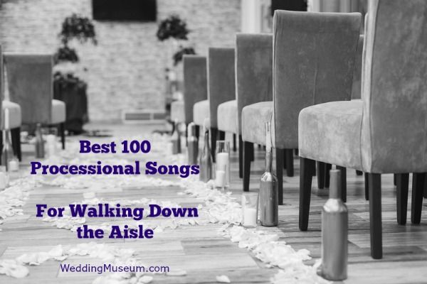 A list of the best current wedding processional songs. Processional Songs are played during a wedding ceremony while the bride or bridal party walk down the isle.